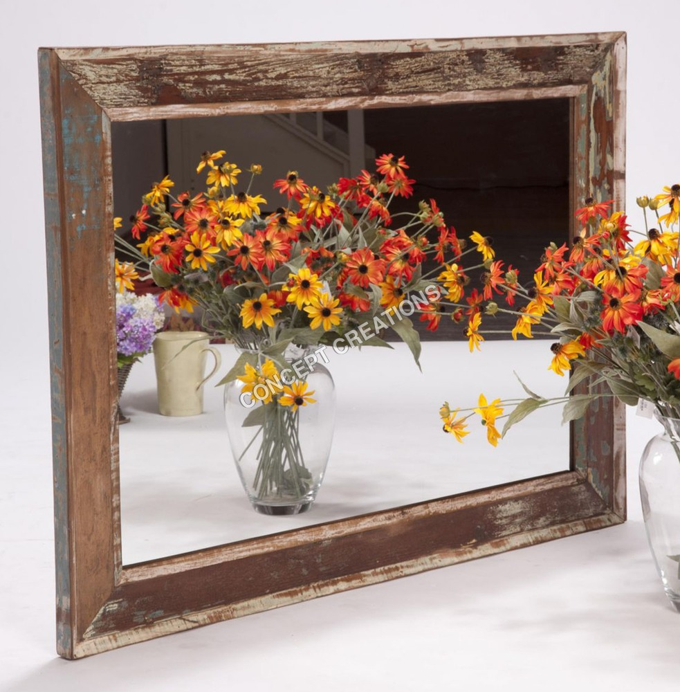 Reclaimed Wooden Mirror Frame