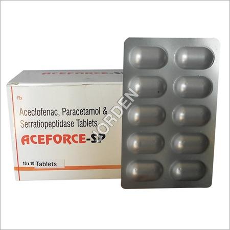Aceclofenac, Paracetamol & Serratiopeptodase Tab