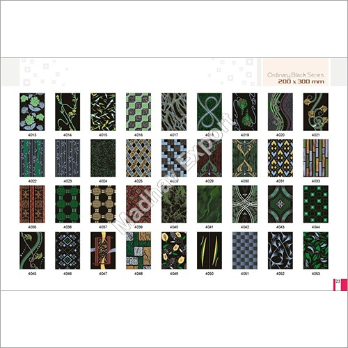 Ceramic Wall Tiles Black Series