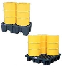 4 Drum Spill Containment Plastic Pallets