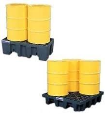 4 Drum Spill Containment Plastic Pallets