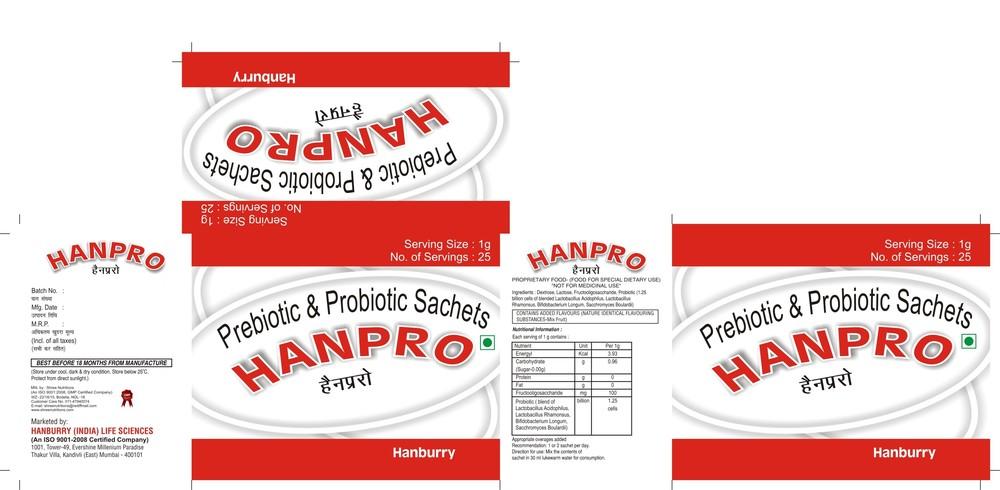 Prebiotic & Probiotic Sachets