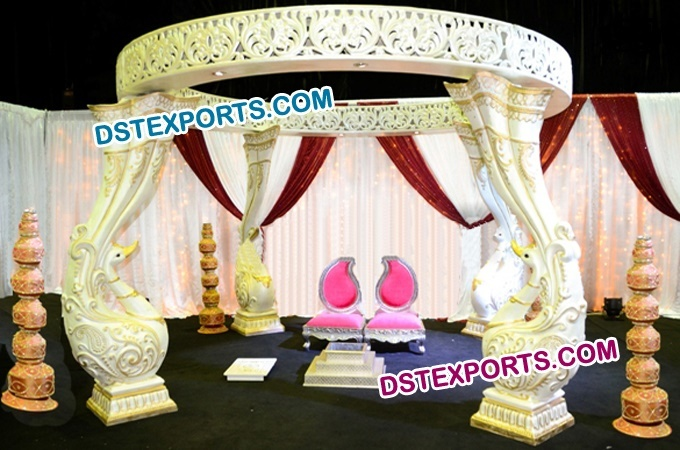 Designer Fiber Peacock Mandap Indian Wedding