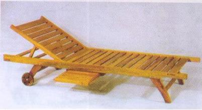 Wooden Poolside Lounger
