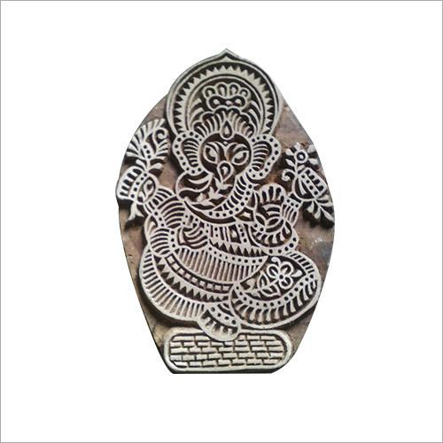 Wooden Ganesha Printing Block