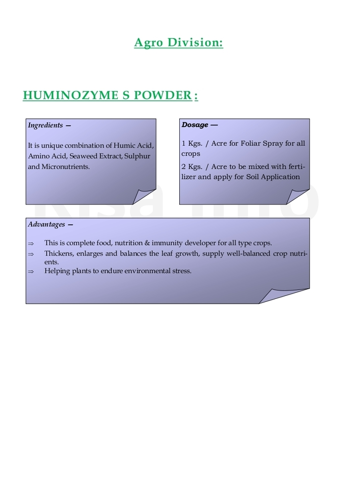 Huminozyme S Powder