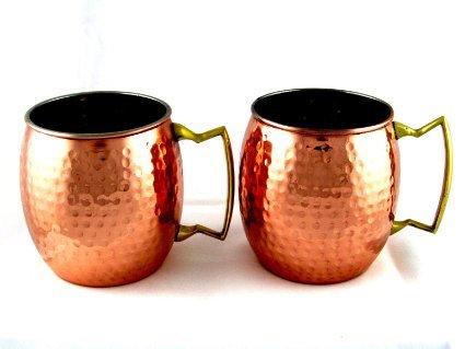Hammered Copper Mugs