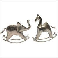 Aluminium Metal Elephant and Horse AMF 10028 , 10029