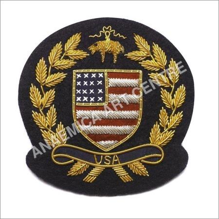 USA blazer gold bullion wire badge