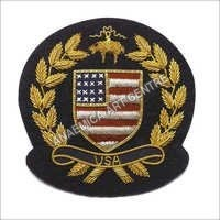 USA blazer gold bullion wire badge