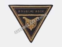 Douglas Road triangular  blazer badge gold bullion