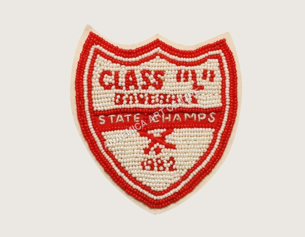 Class L baseball champ beaded patch