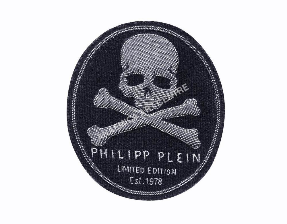 Philipp Plein limited edition skull oval badge