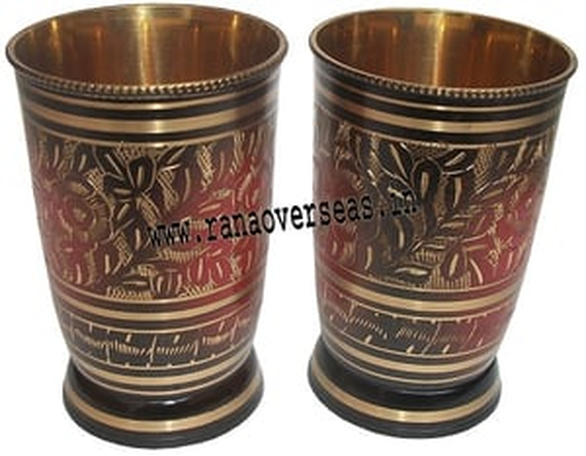 Brass Nakkashi Glass Set BNGLS -001