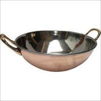 Copper Steel Serving Dish in Kadhai Style CSSD - 904