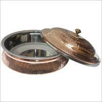 Copper Steel Serving Dish With Lid CSSD - 901