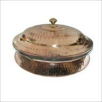 Copper Steel Serving Dish With Lid CSSD - 901a