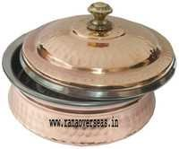 Copper Steel Serving Dish With Lid CSSD - 902