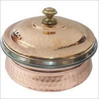 Copper Steel Serving Dish With Lid CSSD - 906