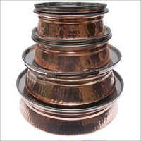 Copper Steel Serving Dish With Lid Several Sizes Available