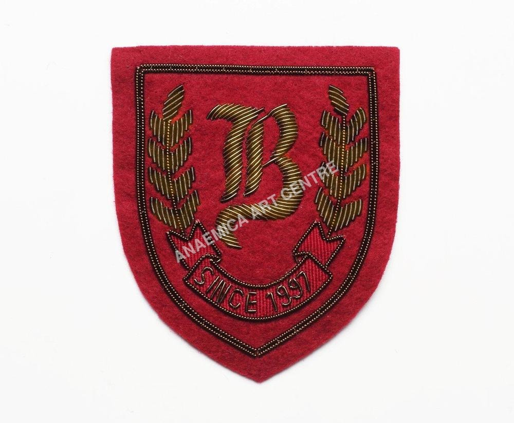 gold wire thread badge