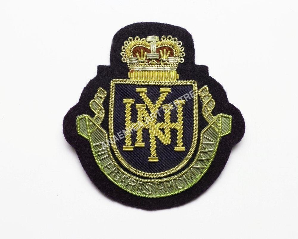 bullion crest applique