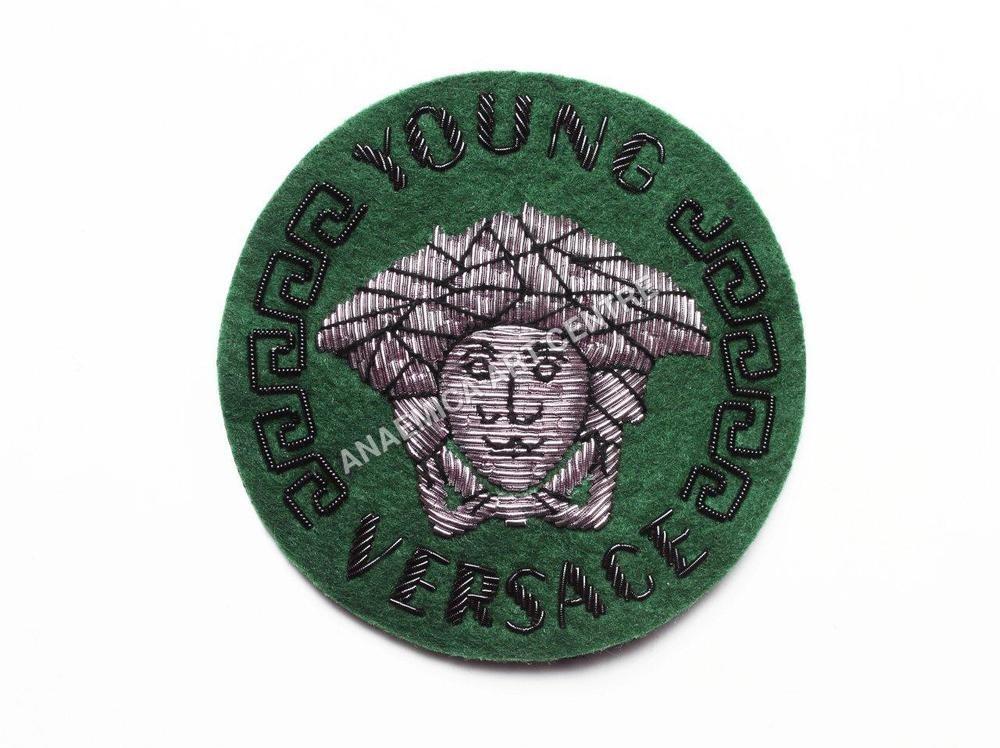 Versace round bullion wire crest