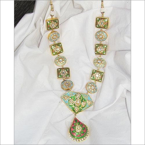 Meenakari Gold Necklace