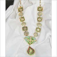 Meenakari Gold Necklace