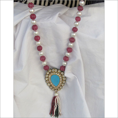 Reversible Pendant Ruby Necklace