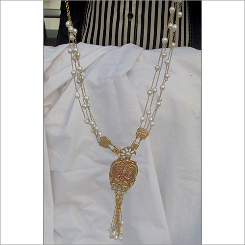 Gold Chain Pearl Necklace