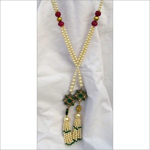 Reversible Pendant Pearl Necklace