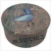 Stone Inlay Round Box SB-78