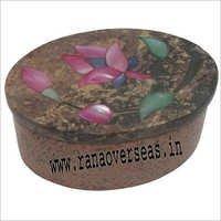 Stone Oval Inlay Box SB-80