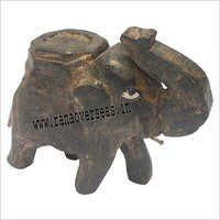 WJE - 1040 WOODEN ANTIQUE ELEPHANT