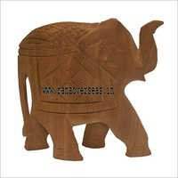 WJE-1006 Wooden Plain Elephant