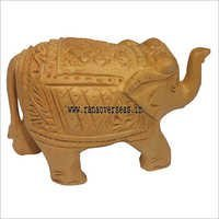 WJE-1010 Wooden Carved Elephant 3 inch