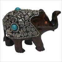 WJE-1016 Wooden Elephant Bead work 4 inch