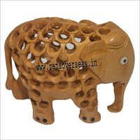 WJE-1029 Wooden Full under cut Elephant 3 inch