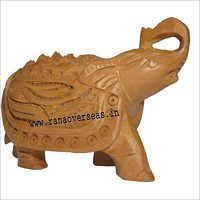 WJE-1030 Wooden Full Carved Elephant 3 inch