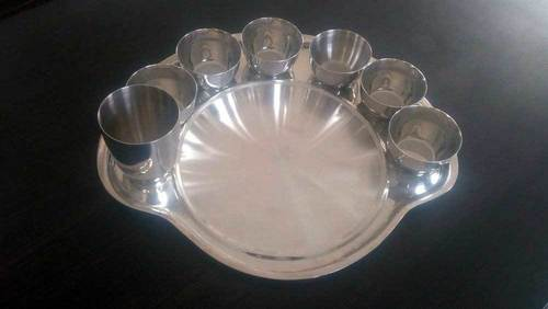 Stainless Steel Platter Plate with katori