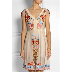 Embroidered Silk Dresses