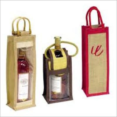 Natural Jute Wine Bags