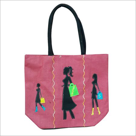 Printed Jute Beach Bag