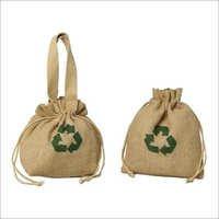 Jute Drawstring Cosmetic Bags