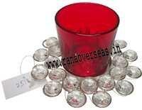 Diamond Glass Votives T Light Holder DGV- 15