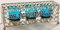 Diamond Glass Votives T Light Holder DGV-4