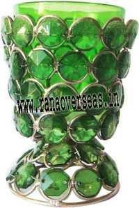 Diamond Glass Votives T Light Holder DGV-6