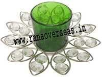 Diamond Glass Votives T Light Holder DGV-8