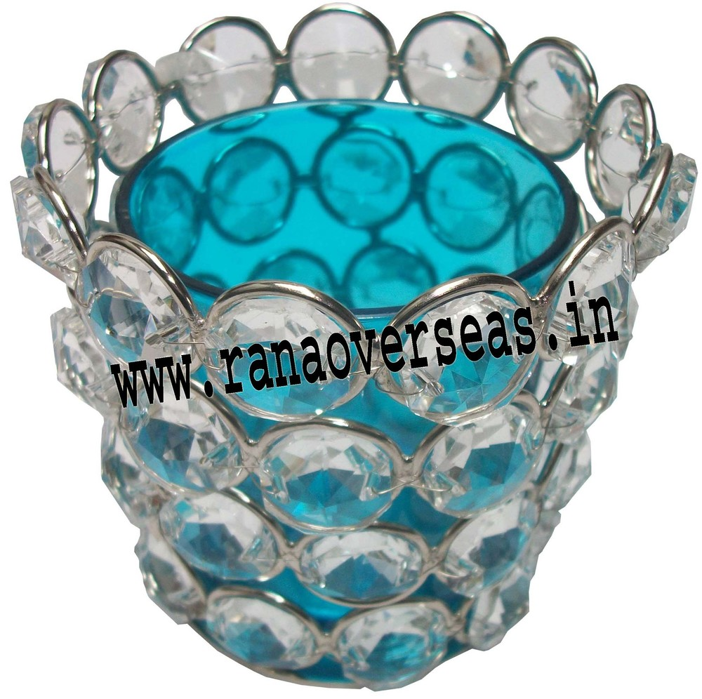 Diamond Glass Votive T-Light Holder
